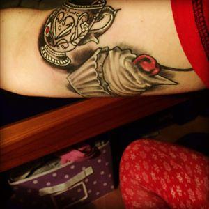 #cherryontop #tea #cup #tattoo #arm #mine #cupcake #foodie #cuptea #mug #food #yum