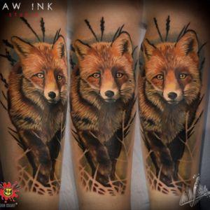 #foxtattoo #colortattoo #colorrealism #realistictattoo #sullenartcollective #BigWaspCartridges #inkjecta #woldfamousink #amazingink