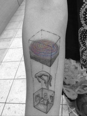 #tattoo #linework #lineworktattoo #minimaltattoo #minimalistic #blackandgrey #blackandgreytattoo #geometry #geometrytattoo #blackwork #abstract #space #spiritual