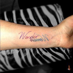 Nº128 Wonder namoW #tattoo #lettering #colors #wonderwoman #womanpower #bylazlodasilva