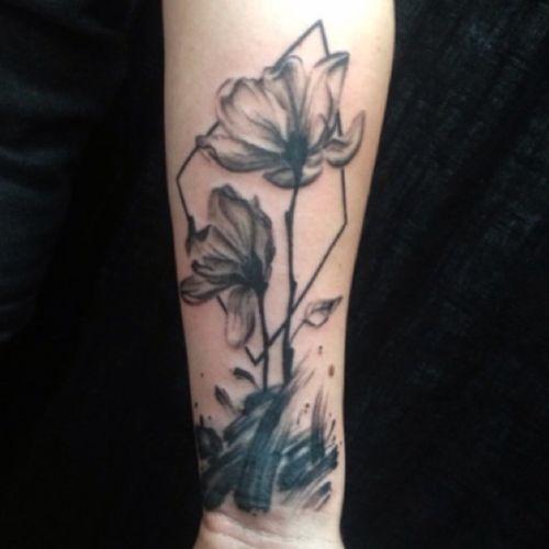 #flowertattoo for Ashley, thank you dear- #blackandgreytattoo #forearmtattoo #tattoo #girlswithtattoos #ladytattooers #denvertattooartist #bouldertattooartist