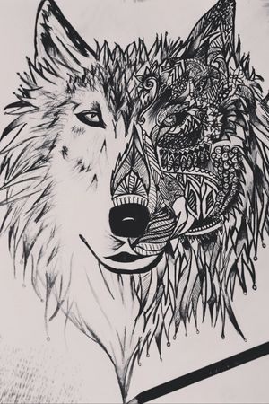 #sketch #drawing #wolf #wolftattoo #pencil #pencildrawing