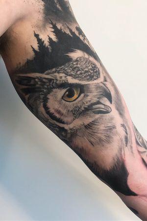 #bnginksociety #blackandgreytattoo #bng #tattoo #owl #owltattoo #blackandgrey #marconobreart #tattooart #tattooed #tattooartist