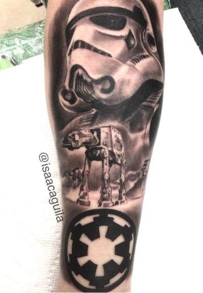 Stormtrooper piece from starwars #starwars #stormtrooper #bnginksociety #bngink #blackandgrey #blackandgreytattoo