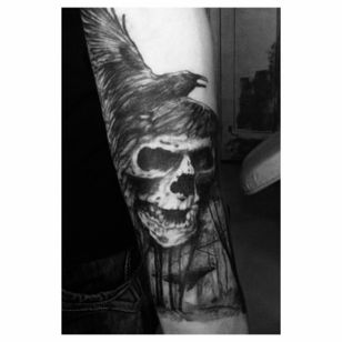 #skull #tattoo #ink #crown