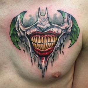 Batman joker done by me please email subdermalartcollective@gmail.com for appointment info
