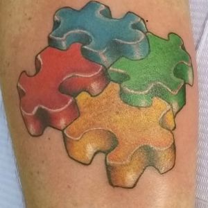 Autism Awareness tattoo by Roger Valdes