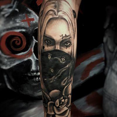 Cover up #tattoo #coveruptattoo #harleyquinn