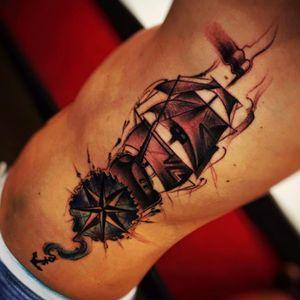 #jeantattooart #ship #compass