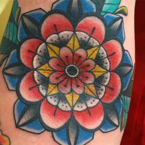 Mandala folk flower details #capturedtattoo fir appontments 📧 Beau@capturedtattoo.com