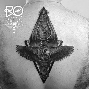 By RO. Robert Pavez • Magic black birds • #engraving #dotwork #etching #dot #linework #geometric #ro #blackwork #blackworktattoo #blackandgrey #black #tattoo