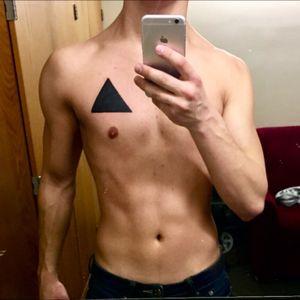 Black triangle from Custom Tattoo, Milwaukee #triangle #TriangleTattoos #Black