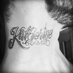 #lettering #necktattoos #freehand #scripttattoo