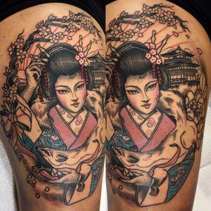 In progress.  Ode to her honeymoon in japan