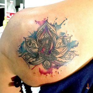 Noº51 Lotus Flower #tattoo #lotus #flower #watercolor #eternalink #cheyennetattoo #hawkpen #bylazlodasilva