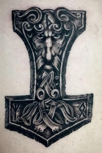 #thor #viking #thorhammer #blackandgrey