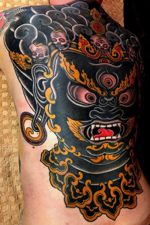 Tough one for a beast client #mahakala #freetibet #tibetantattoo #tattoooftheday