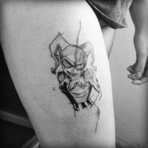 #tattoo #harleyquinntattoo #sketchtattoo