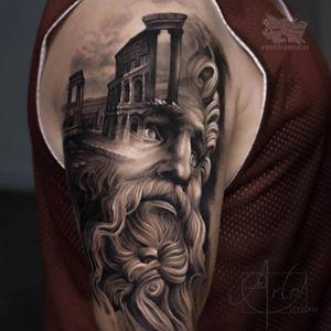 Arlo is so amazing! #portrait #greekgod #greekstatue #greekmythology #hyperrealism