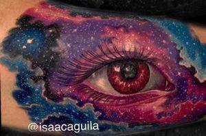 Space eye #eye #eyetattoo #color #colortattoo #ink
