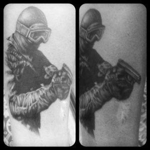 #blackandgrey # tattoo #halfsleevetattoo