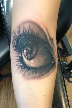 #eyetattoo #blackandgrey #tattoooftheday