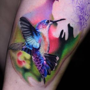 Very colorful hummingbird is a #dreamtattoo