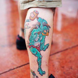 Did this Oni demon for the winner of last weeks mystery tattoo! #onidemon #japanese #mysterytattoo