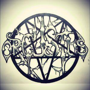 The logo of Orcustus. #mydesign #myoriginalartwork #blackmetal #norwegianblackmetal