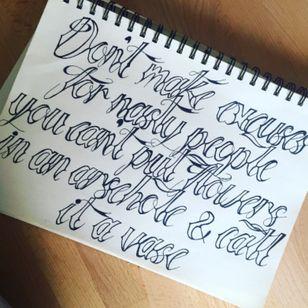 Weekend sketching #lettering #quote #tattoodesign #font #script #handwritting #design #fineline #linework #outline