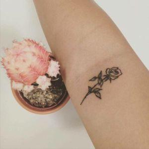Small rose tattoo #rose