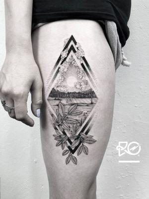 By RO. Robert Pavez • Beyond the Horizon ➖ Studio Zoi tattoo Stockholm 🇸🇪 • 2018  • #engraving #dotwork #etching #dot #linework #geometric #ro #blackwork #blackworktattoo #blackandgrey #black #tattoo #fineline