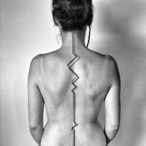 Simple #linework #simple #long #backtattoo