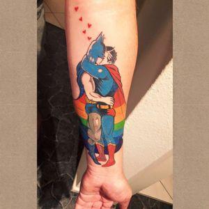 Superheroes in love #lovewins #superheroes #gay #loveislove #pride #rainbow