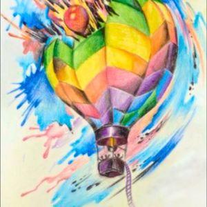 #dreamtattoo, #amijames, #balloon, #hotairballoontattoo