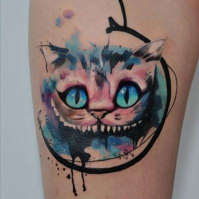 #cheshirecat #chesttattoo #cat #disney #cheshire #aliceinewonderland