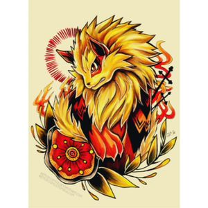 Arcanine tattoo design #pokemon #fire