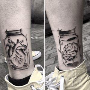 #braintattoo #hearttattoo  #blxcink #blackink #wowtattoo #onlyblackart #polandtattoo #tattoo #smalltattoo #bieltattoo