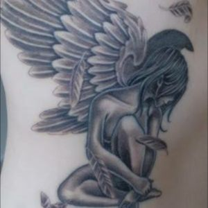 My guardian angel #angeltattoo #angel #guardianangel #ribs