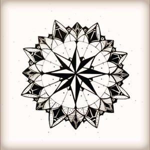 Compass mandala freehand sketch #mandala #symmetry #freehand #ink #pen #flower #buddhist #mandalasketch #sketch #compass