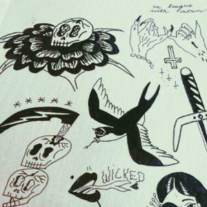 All hail hell #tradicional #blacktattoo #skull #lucifer #wicked
