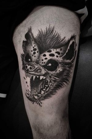 #hyena #shapefromhell #velvetwolfcustomink #budapest #tattoo #blacktattoos #blackwork #dotwork