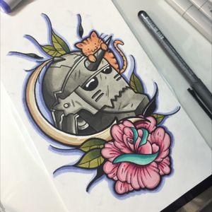 Cloor study for this #alphonseelric piece #fullmetalalchemist #tats #tattoos #tattoo #art #ink #guyswithink #girlswithink #bodymods #bodymod #plugs #instapic #imstagood #instamood #iphoneonly #follow #followme #scene #beard #kingpin #kingpintattoosupply #kingpintattoo #eternalink