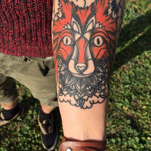 #fox #foxtattoo #tatooartist #italiantatooartist #italiantattoo