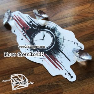 For downloads and commission visit My old clock design's remake. Free download at www.skinque.com #clock #clocktattoo #trashpolka #trashpolkatattoo #splatter #ink #tattoo #illustration