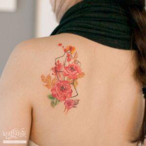 roses (healed :) #rose #flower #healedtattoo #watercolortattoo