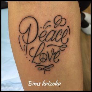 #bims #bimskaizoku #bimstattoo #peace #love #peaceandlove #coeur #heart #letters #lettering #paris #paname #paristattoo #ink #inked #inkedgirl #tatouage #tattoo #tattoos #tattoogirl #tattooflash #tattooist #tattooworkers #tattoomodel #tattoedgirl #tattoostyle #tattooart #tattoolife #tattoed #tattooer