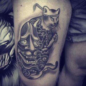 Cool cat #japanese #samurai #cat #hannya