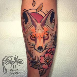 #riquecorner #fox #animaltattoo #tattooartist #traditional