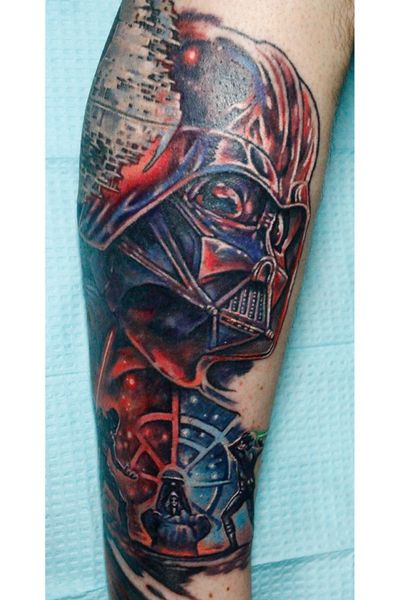 Custom #starwars #darth #darthvader #vader #sithlord #skywalker tattoo by Sean Ambrose at Arrows and Embers Custom Tattoo. Thanks for looking! #tattoooftheday